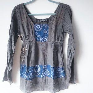 Desigual Tops - Desigual Knit and Cotton Blouse Size M